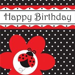 ladybug happy birthday napkins