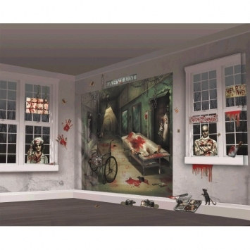insane asylum scene decorating kit