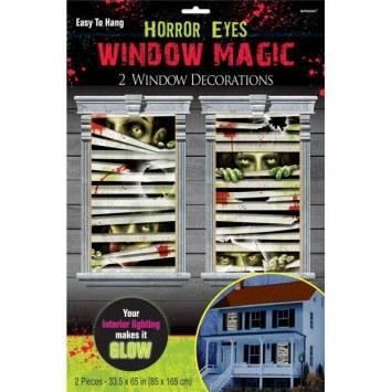 horror eyes window decorations