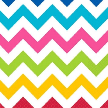 Multi-Color Chevron Beverage Napkins (36/pkg)