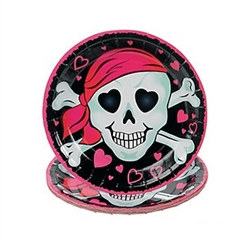pink pirate desert plate