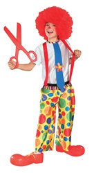 Child Dotted Clown Costume Large