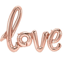 """love"" Script balloon"