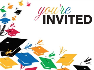 Colorful Grad Invitations (8/pkg)