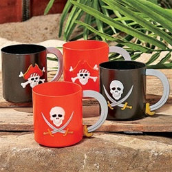 Plastic Pirate Mug (Sold Individually)