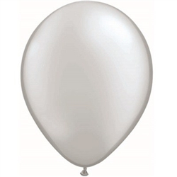 Silver Balloons 11 inch - 25 per package