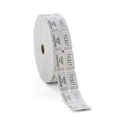 doubleiticket white ticket roll