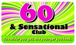 60 and sensational club pocket card