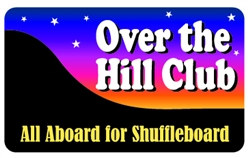 over the hill club plastic pocket card