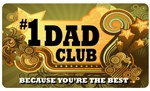#1 Dad Club Plastic Pocket Card (1/Pkg)