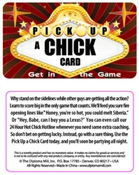 Pick Up A Chick Plastic Pocket Card
