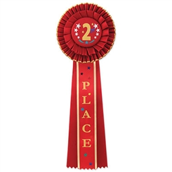 2nd Place Deluxe Rosette Ribbon
