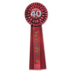40 and fantastic deluxe rosette ribbon