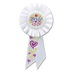 Bride To Be Rosette Ribbon
