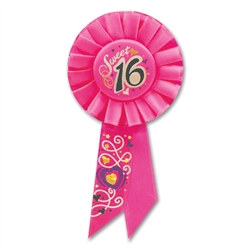 Sweet Sixteen Rosette Ribbon