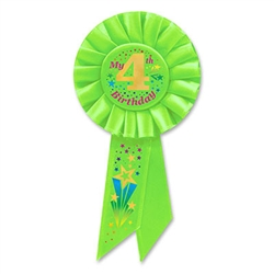 my 4th birthday rosette ribbn