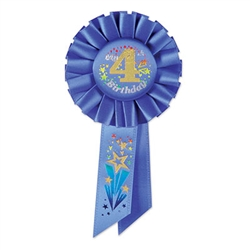 blue my 4th birthday ribbon
