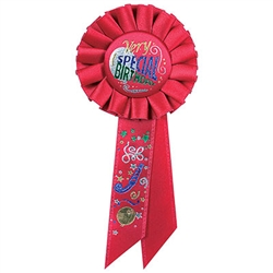 very special  birthday rosette ribbon
