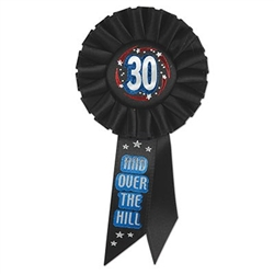 30 and over the hill rosette button