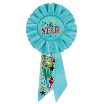 birthday star rosette ribbon