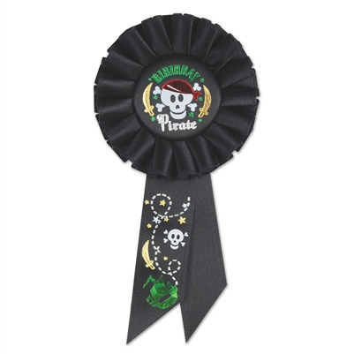 birthday pirate rosette ribbon